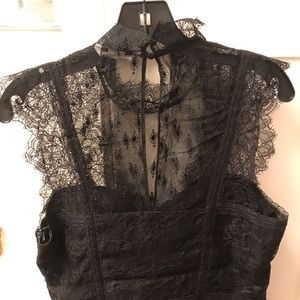 H&M black lace blouse